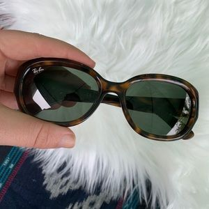 Ray Ban RB4198 tortoise shell sunglasses oval